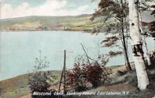 NH, New Hampshire   MASCOMA LAKE looking toward EAST LEBANON   1908 Postcard