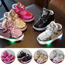 Blinkende Schuhe Baby Kinder Mädchen LED Leuchtende Sneakers Blinkschuhe DE