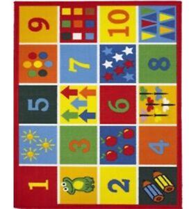Childrens Kids Learning Number 123 Indoor Bedroom Play Rug 80  x 120 cm