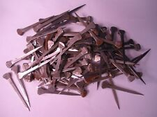 "Lot of 100 Old never Used HORSE SHOE NAILS No. 6 2 1/8""  jewelry or Craft Rusty"