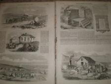 Crimea war sketches at Sebastopol and Balaclava 1855 old prints