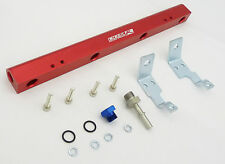 OBX Red Aluminum Fuel Injection Rail Fit 2004 2005 2006 2007 Mazda 3 2.3L N/A