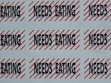 "65 Stock control ""NEEDS EATING"" Freezer General storage labels 38 x21mm"