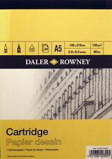 Daler Rowney Cartridge Paper A5 130gms (80lbs) Acid free 30 sheets