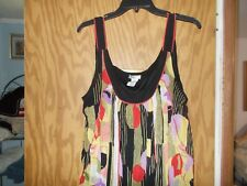 Women's BISOU BISOU Size XL Maternity Sleeveless MultiColor Lined Top