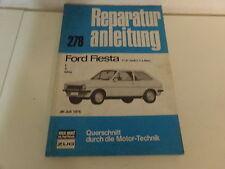 Ford Fiesta ab Juli 1976 Reparaturbuch  1,0 & 1,1 Liter Modell L / S / Ghia