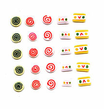 25 FIMO NAIL ART DECORATIONS SLICES FOR NAILS CAKE SLICE SWISS ROLL SWEET CANDY