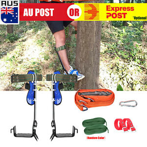 Safety Tree Climbing Spike Set 2 Gear Survival Hunting Tool With Safety Belt A