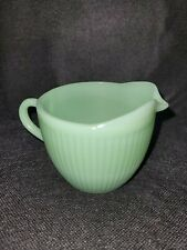 Fire King Jadeite Jane Ray Creamer in Excellent Condition * Free Shipping