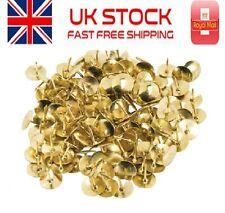 200 x Quality Brass Drawing Pins- Metal Sharp Board Tacks Gold Display Push Pins