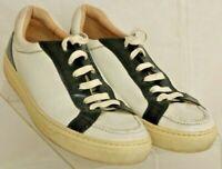BALLY Enny White Pebbled Leather Fashion Walking Sneaker's shoes Men's US 7D