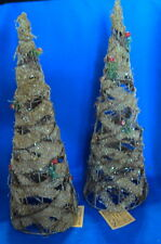 rattan holly tree 16 inches decor centerpiece holidays christmas
