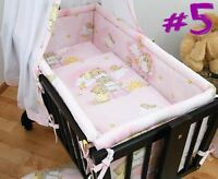 Nursery Crib Bumper Fits Baby Rocking/ Swinging Cradle - L Pink
