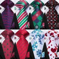 USA Christmas Mens Tie Set Necktie Beer Flamingo Dogs Snow Silk Jacquard Woven