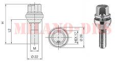 KIT 8 BULLONI FLOTTANTI VARIAZIONE INTERASSE M12x1,25 L=35 4X100 / 4X98
