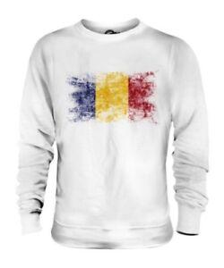 Rumania Bandera Apenada Unisex Suéter Rumania Fútbol Rumano Camisa Regalo