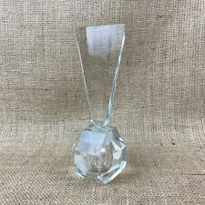 Vintage Heavy Faceted Cut Glass Perfume Bottle