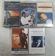 5x Cliff Richard Cassette Tapes Excellent Condition
