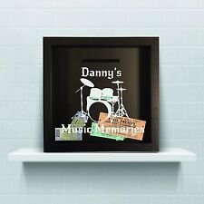 Personalised Music Ticket holder, gig ticket collection, ticket shadow box