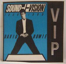 David Bowie - Vintage Original Concert Tour Cloth Backstage Pass