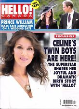 """Celine Dion """"Rare"""" Hello Canada Magazine 5 Pages With Rene 2010"""
