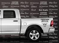 Chicago Bulls Decals x2 Truck Decal Car Vinyl Sticker Basketball team Graphics