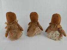 The Hearthside Collection Dolls Lot of 3 Home Decor Country Design
