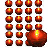 QTY 24 piece ORANGE LED Submersible Underwater Tea lights TeaLight bright US Shi