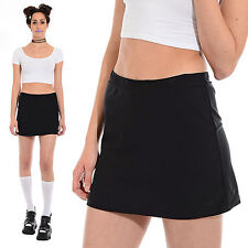 Black NIKE Dri Fit Tennis Skirt Shorts Skort ATHLETIC Sporty Spice Goth Clueless