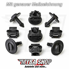 10x Set Motor-Unterfahrschutz Clips Audi VW Seat Skoda | 4A0805121A 4A0805163