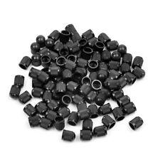 100PCS Plastic Black Color Car Wheel Tire Universal Valve Stem Caps Air Dust Cap