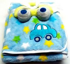 bg Baby Gear Baby Boy Blanket Super Soft 2 Piece Set - Blue