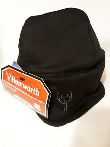 Huntworth Victor Adult Reversible Black Hat Beanie Fleece One Size