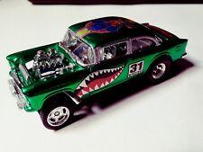 55 Chevy Bel Air Gasser green Custom Hot Wheels
