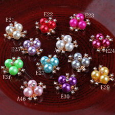 30pcs Metal Rhinestone Buttons Bling Alloy Crystal Flatback Buttons for Wedding