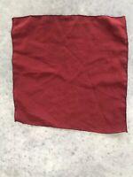 Vintage Red Raw Silk Mini Scarf Handkerchief