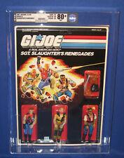 """GI Joe Sgt Slaughters Renegades 3.75"""" Action Figure Set 1987 MOC AFA 80+ Vintage"""