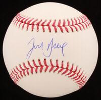 Josh Breaux Signed OML Baseball (MAB Hologram) MLB New York Yankees