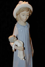 Lladro Belinda With Her Doll #5045 Girl With Doll Spain Discontinued Mint