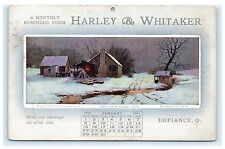 Harley & Whitaker Defiance Ohio Oh Advertising Postcard January 1911
