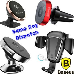 BASEUS Magnetic Universal Ball Magnet Car Mount Phone Holder GPS Air Vent NEW AU