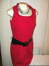 WHITE HOUSE BLACK MARKET sz 12 -RED PONTE DRESS VERSATILE -NWT-GORGEOUS! $148
