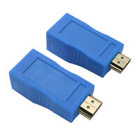 2tlg HDMI Extender auf RJ45 über Cat 5e/6 Netzwerk HDCP LAN Ethernet Adapter Neu