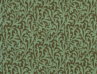 York Carey Lind Coral Teal Green small Scroll Chocolate Brown Copper Wallpaper