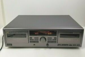 JVC TD-W209 Stereo Double Cassette Deck Player Recorder Auto Reverse Tested Work