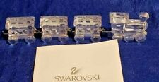 Miniature Toy Train Christmas Swarovski Crystal Figurines Austria