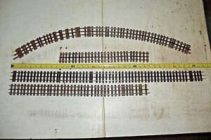 Old Vintage O Gauge 3 Rail Train Track Lot 5 Long Pieces wooden Ties