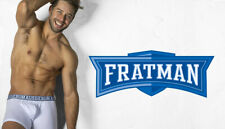 NEW STYLE SEXY AUSSIEBUM 'FRATMAN' HIPSTER TRUNKS WHITE LARGE