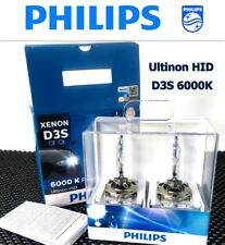 Genuine PHILIPS 6000K Ultinon Flash White D3S XenStart HID XENON 35W Bulb x2 #TC