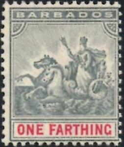 Barbados 1905 1/4d Slate-Grey & Carmine   SG.135 Mint (Hinged)